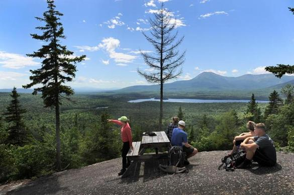 2017062417 T3 R8, Maine Photo by Fred J. Field The view toward Mount Katahdin and Katahdin Lake from atop Barnard Mountain in the Katahdin Woods & Waters National Monument area in northern Maine. President Obama designated this area as a national monument. The Trump administration is reviewing that decision.
